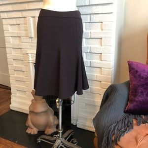 Trumpet flared stretch wool Versace skirt